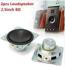 2pcs 2.5inch 8Ω Full Range Audio Speaker Stereo Loudspeaker 10W
