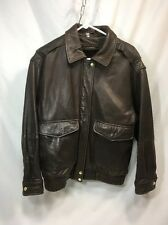 VTG Braefair Leather Bomber Motorcycle Jacket Mens Medium Removable Liner Brown