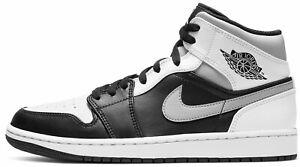 Air Jordan 1 Shadow Retro Mid Grey White Black Gray 554724-073