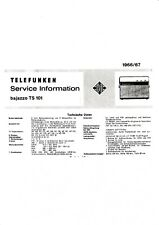 Service Manual-Anleitung für Telefunken Bajazzo TS 101