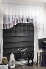 MODERN SET OF NET VOILE CURTAINS KITCHEN BEDROOM WINDOW WHITE GUIPURE