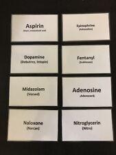 PARAMEDIC EMS NURSE DRUG MEDICATION FLASH CARDS STUDY GUIDE NATIONAL REGISTRY