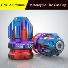2X CNC Aluminum Motorcycle Head Valve Stem Caps Motocross Tire Gas Cap Blue Red
