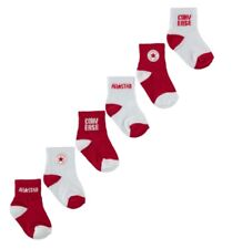 Converse All Star Baby Socken Rot Weiß 6 Paar Socken 6 - 12 Monate