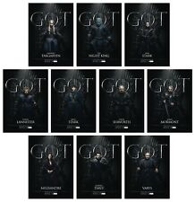 GAME OF THRONES Season 8 FOR THE THRONE - 10 Card Promo Set - GoT Jon Daenerys
