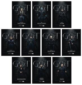 GAME OF THRONES Season 8 FOR THE THRONE - 10 Card Promo Set - GoT Jon Daenerys