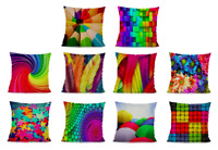 Retro COLOURFUL Cushion Covers! Abstract Bright Bold Design Pillow 45cm Gifts