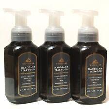 3 BATH & BODY WORKS MAHOGANY TEAKWOOD GENTLE FOAMING HAND SOAP 8.75 WHITE BARN