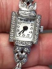 """Ladies """"LONGINES"""" Platinum and Diamond Estate Watch"""