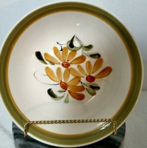 Vintage Flower Canyon Round Serving Bowl Nasco Earth Stone Fall Colors 9 inches