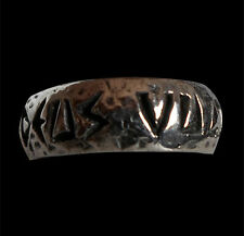 Stainless Steel Deus Vult Crusader Band Ring Custom Sized Latin Crusade R-149ss