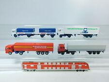 AT281-0,5# 4x Wiking H0 TRUCK: MAN Hellmann/Rosbacher+Ford Siemens+DAF, MINT