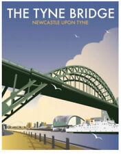 Il Tyne Bridge Newcastle Art Deco Stile Vuoto Compleanno Biglietto Festa del Papà