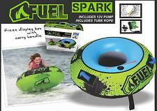 FUEL SPARK (1 PERSON) SKI INFLATABLE ROUND TUBE BISCUIT TOW ROPE PUMP