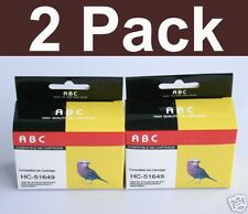 2 HP 49 C51649A Ink for 610c 612c 630c 640 642 648 656c
