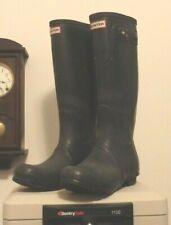 Tall Dark Gray  Hunter rain rubber boots wellies  Woman's 11  Men's 10