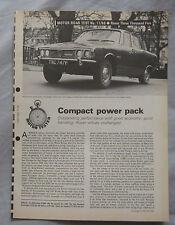 1968 Rover 3500 Original Motor magazine Road test