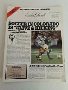 1978 The Caribou Chronicle Soccer Club Colorado Introductory Issue NASL