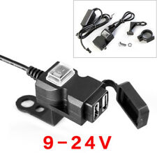 9-24V Waterproof Dual USB Motorcycle Handlebar Charger Socket w/ Switch & Mounts