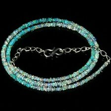 """100% AAA+ Natural Ethiopian Welo fire opal Beads 3x4 MM 16"""" Necklace Gemstone.23"""