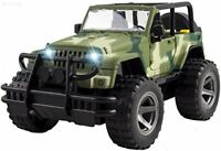 Friction Powered Off-Road Military Fighter Car Toy with Lights & Sounds