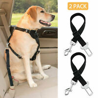 2 Pack Cat Dog Pet Safety Seatbelt for Car Seat Belt Adjustable Harness Lead