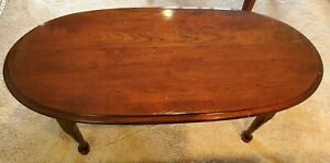 Solid Cherry Oval Coffee/cocktail Table