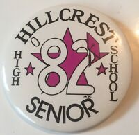 "1982 Hillcrest High School Flushing Queens 3"" Pinback Button"