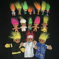 Vintage Russ Berrie Troll Collection Lot Figures Puppets Trolls Pizza Doctor etc