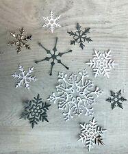 Stanzschablone/ Cutting dies Schneeflocken Eisblumen, bis 7,5 x7,5 cm, 4tlg.