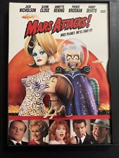 Mars Attacks Dvd 1997 Jack Nicholson Tim Burton Glenn Close Bening Comedy Sci-Fi