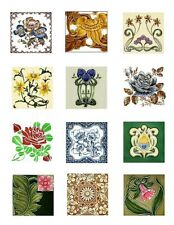 Nouveau Tile Art Cotton Fabric Block Collection 2B FrEE ShiPPinG WoRld WiDE