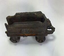 Cast iron train coal car #40 very old toy train piece vintage 3x2.5