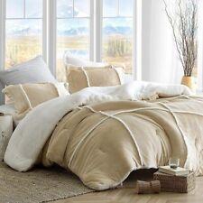 Rustic Wild West Brown Plush Flannel Sherpa 3 pcs Comforter King Queen Set