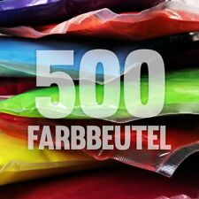 500 x Holi Pulver - Gulal - Festival Farbbeutel - Fotoshooting 10 Farben