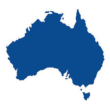 Australia forma Auto Finestrino Paraurti Muro in Vinile Decalcomania Adesivo souvenir Blu vivido