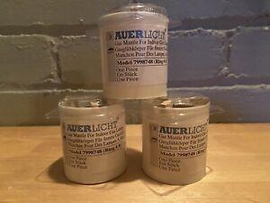Three (3) AUERLICHT 7998748 Indoor Gas Lamp Mantles Ring #8