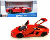 LAMBORGHINI AVENTADOR 1:24 scale model diecast toy car die cast miniature orange