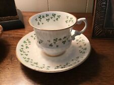 Shamrock Royal Tara demitassee fine bone china cup & Saucer Galway Ireland