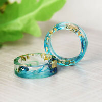 Natural Clear DIY Scenery Painting Resin Real Dried Flower Ring Unique Jewelry