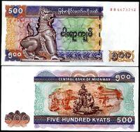 BURMA MYANMAR 500 KYATS 2004 P 79 UNC