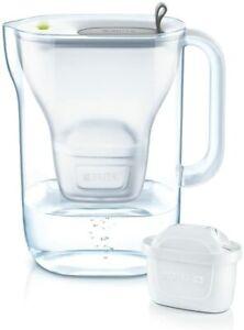 BRITA Fridge Water Filter Jug for Reduction of Chlorine & Limescale - 2.4L Grey
