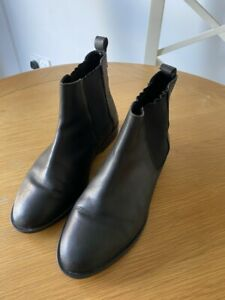 ASOS BLACK LEATHER ANKLE / CHELSEA BOOTS SIZE 5