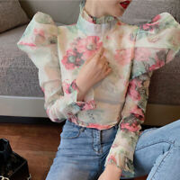 White Pink Floral Blouse Top Glen Portrait People Free Self Delivery