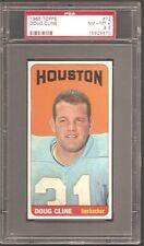 1965 Topps SP #72 Doug Cline Oilers PSA 8.5 NrMt-Mt+