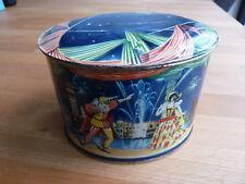 Vintage French COQ BLANC PARIS metal tin box – bonbons fins, Venice litho