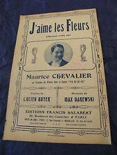 Partitur J'aime les blüten Maurice Chevalier Darewski 1917 Music -blatt