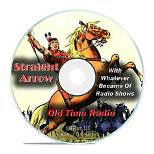 Straight Arrow, 1,074 Old Time Radio Shows, Adventure Westerns OTR mp3 DVD G21