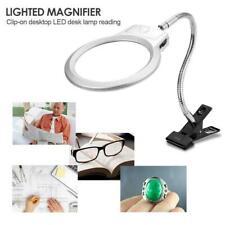 LED Lampe Tischlupe Mit Schwanenhals Klemme Arbeitslupe Vergrosserung Leselupe