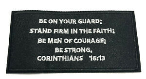 Corinthians 16:13 Bible Verse Embroidered Patch iron-on / sew-on Christian Jesus